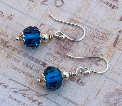 Glamorous Glass Bead Earrings