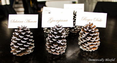 Glitter Pinecone Place Card Holders