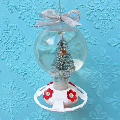 How to Make a Snow Globe from a Hummingbird Feeder
