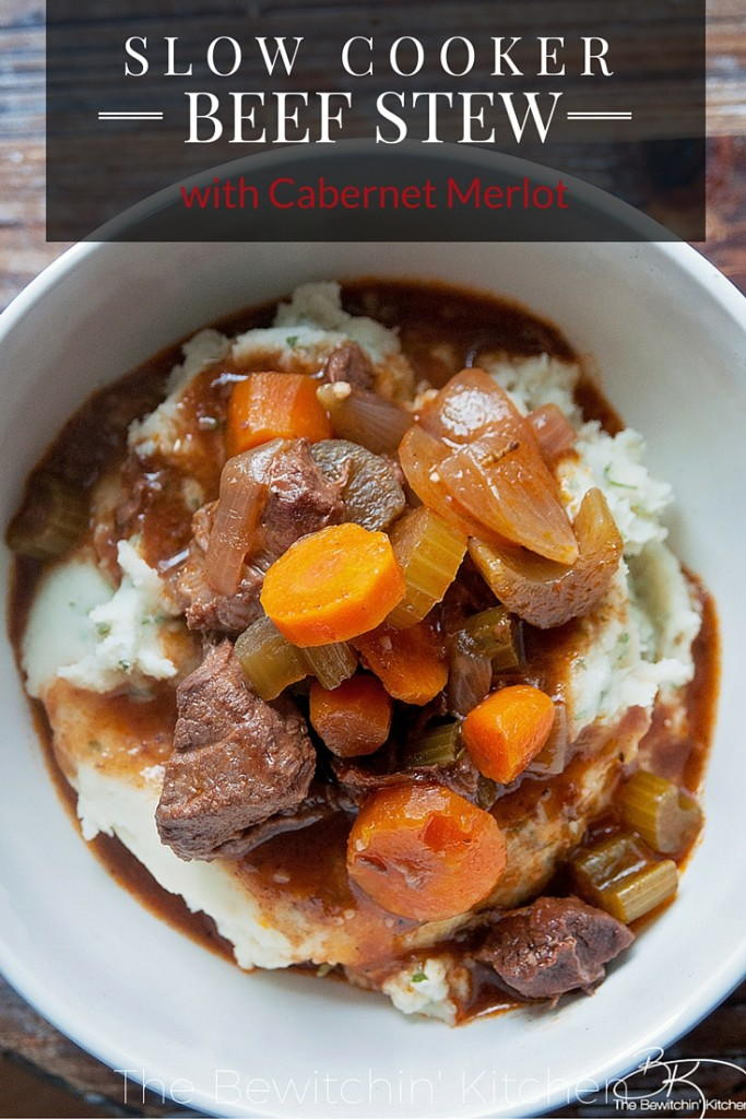 Slow Cooker Red Wine Beef Stew | AllFreeSlowCookerRecipes.com