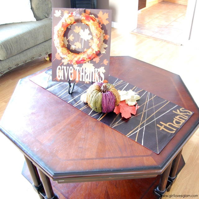 Easy Faux Leather Thanksgiving Table Runner ...