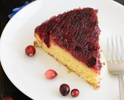 Cranberry Orange Upside-Down Cake