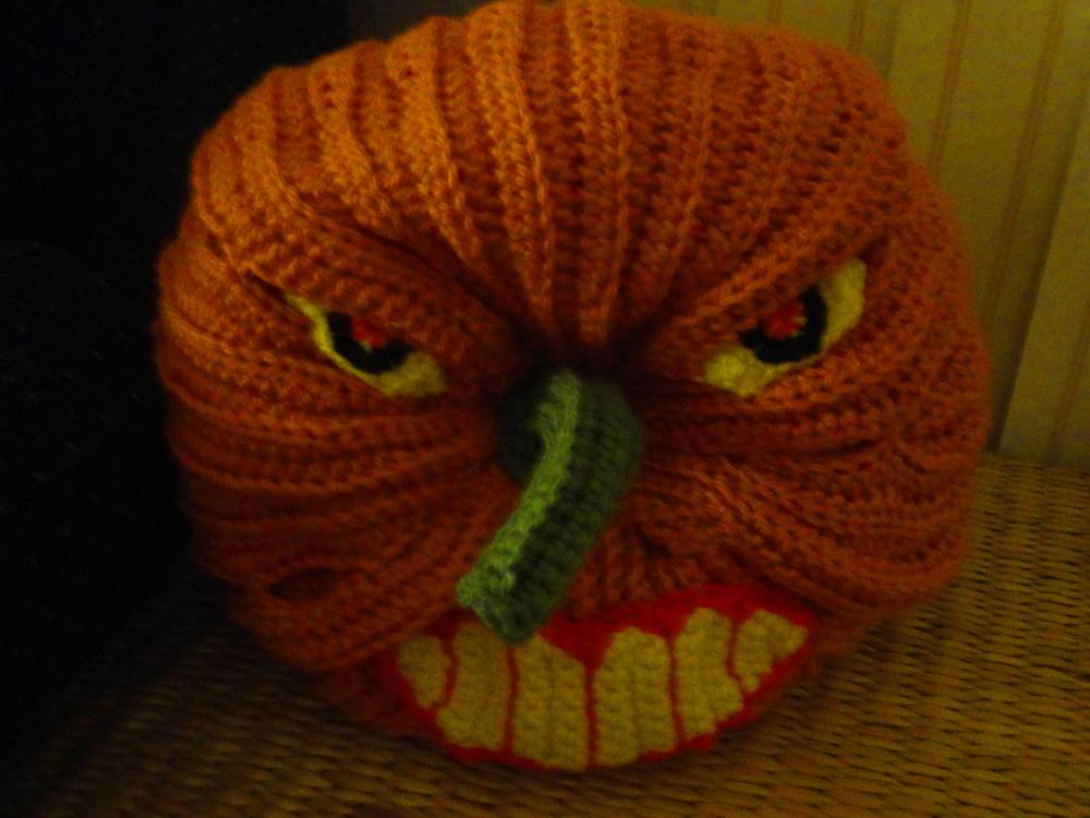 Scary Halloween Pumpkin Allfreecrochet Com