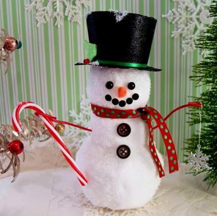 Dollar Store Snowman Allfreeholidaycrafts Com