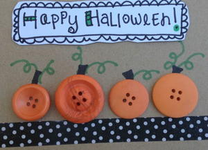 Bitty Button Pumpkins
