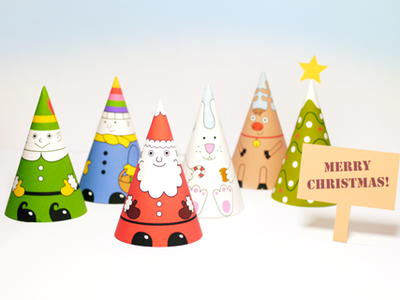 Santa and Company Printable Paper Dolls