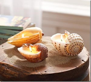 Sea Shell Candle Centerpieces
