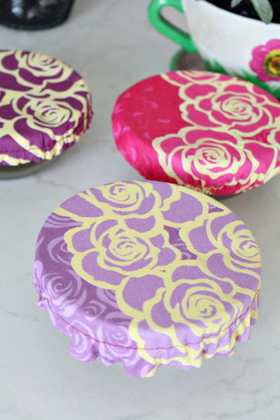 Reusable fabric bowl cover tutorial