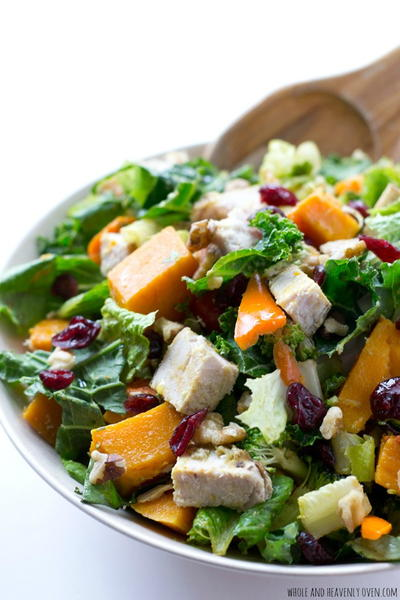 Butternut Squash Turkey Tossed Salad