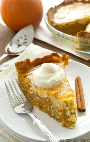 Pumpkin Pie with Cheesecake Topping