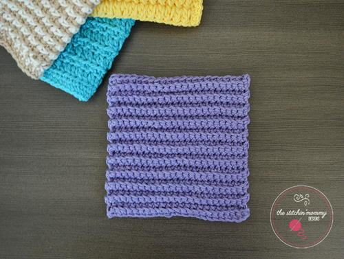 Ribbed Single Crochet Dishcloth