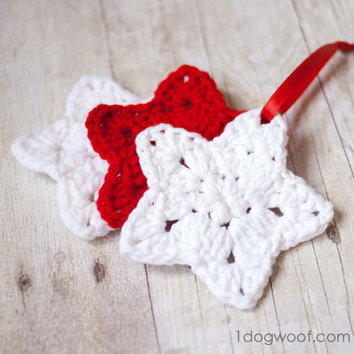 Christmas Star Crochet Ornament Pattern Favecraftscom
