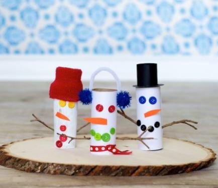 Goofy Toilet Paper Roll Snowmen Allfreekidscrafts Com