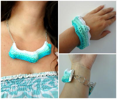 Bobble Ripple Necklace & Bracelet Set