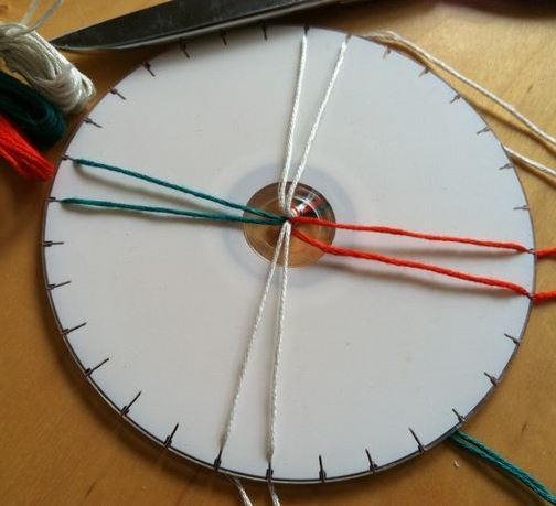 DIY Kumihimo Disk from a CD