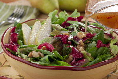 Warm Honey Walnut Salad
