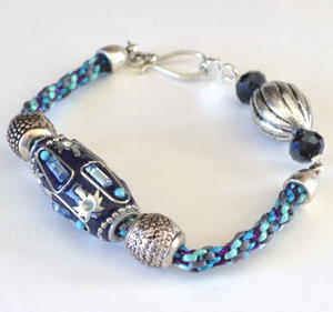 Kumihimo Braid Scrap Bracelet