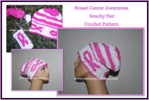 Breast Cancer Awareness Slouchy Hat