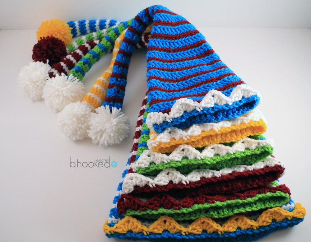 Free Crochet Pattern Long Elf Hat : Elf Hats for the Entire Family AllFreeCrochet.com