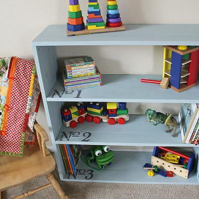 Children's Number Bookcase