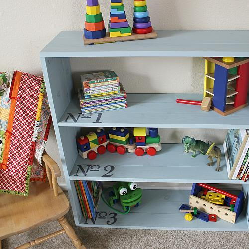 Childrens Numbered Bookcase