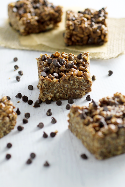 Chocolate Almond Butter Brown Rice Crispy Treats