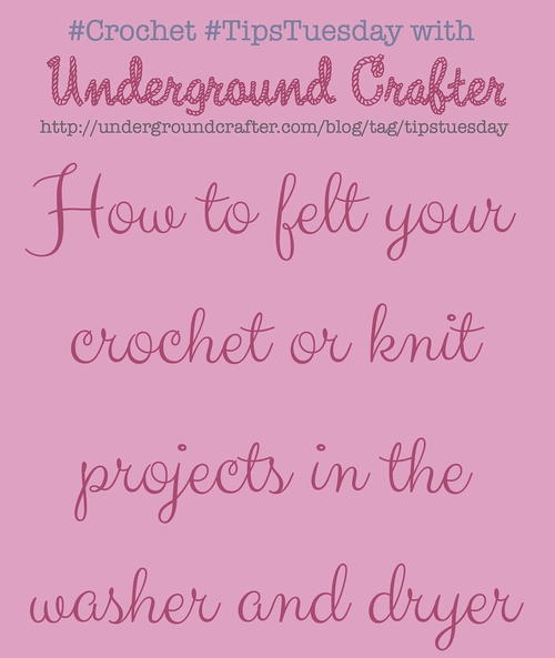 How to Felt Your Wool Crochet Projects in the Washer and Dryer