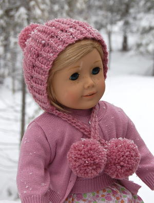 Winter Poms Doll Hat