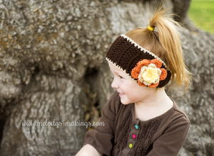 Falling Flowers Ear Warmer