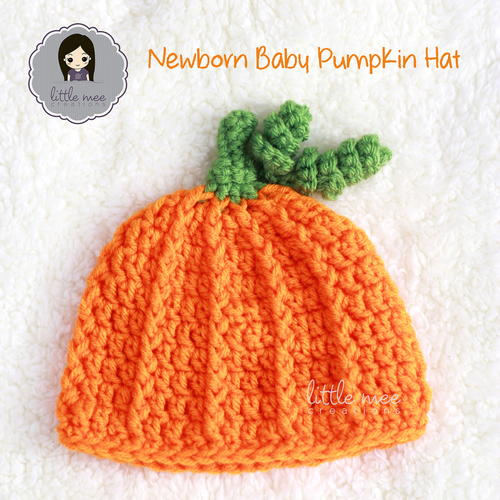 63f67df906a Newborn Baby Pumpkin Hat