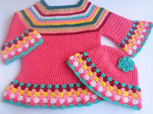Crochet Girl Sweater