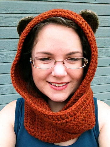 Ewok Inspired Crochet Scoodie