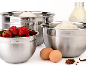 Tovolo Stainless Steel Mixing Bowl Set