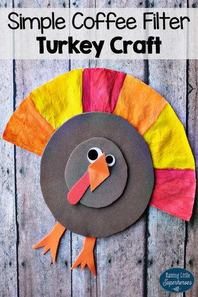 Super Simple Coffee Filter Turkey Craft