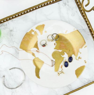 Gold Map DIY Ring Holder