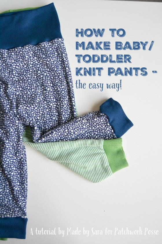 Knitting Pattern For Toddler Pants : How to Make Baby Knit Pants AllFreeSewing.com