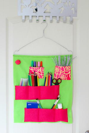 School Supplies Felt Organizer