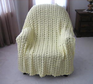 Luscious Lace Crochet Blanket