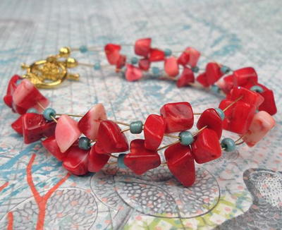 Captivating Coral and Turquoise DIY Bracelet