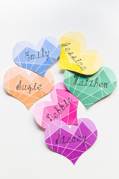 Printable Ombre Place Cards