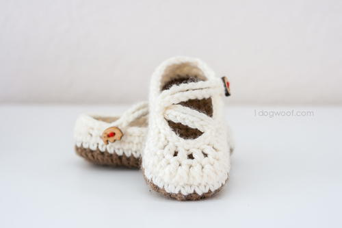 Darling Double Strapped Crochet Mary Janes