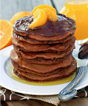 Chocolate Orange Nutella Pancakes