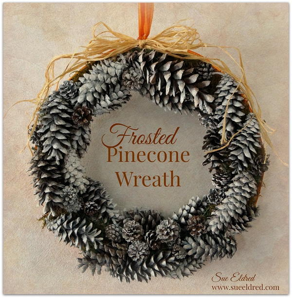 Frosted Pinecone DIY Christmas Wreath