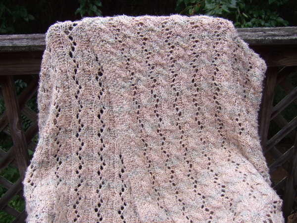 Reversible Cable and Lace Afghan AllFreeKnitting.com