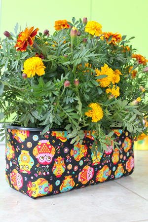 Fabric Covered DIY Planter
