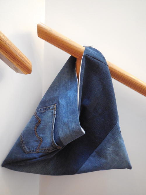 Denim Triangle Bag Pattern