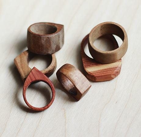 Whimsically Simple DIY Wood Rings