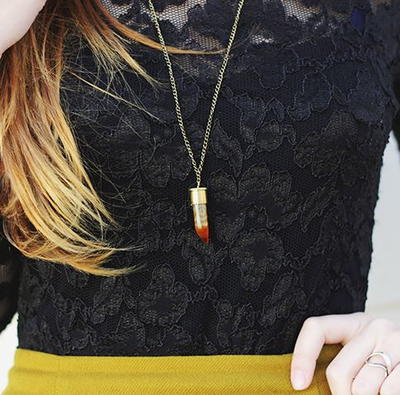 DIY Bullet Horn Necklace