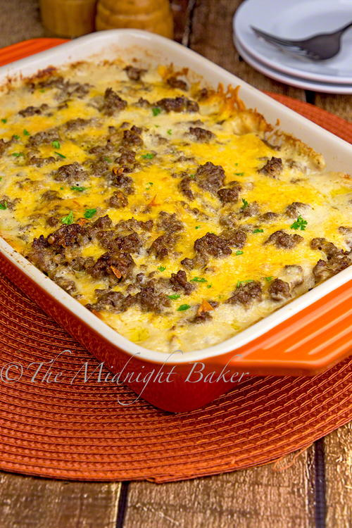 Cheesy Beefy Potato Casserole