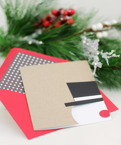 Snowman DIY Christmas Stationery